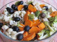 Cold marinated vegetables - a great summer staple to have on hand
