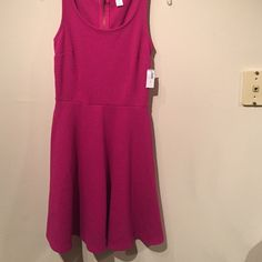 NWT Old Navy Dress New with tags pink Old Navy textured dress with empire waist. Old Navy Dresses Mini