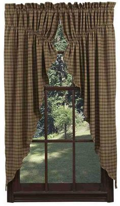 Barrington Prairie Curtain Scalloped 63 in.