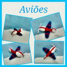 Lembrancinhas em feltro!!! #aviões