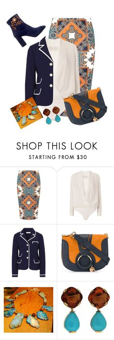"""blue hues"" by kkornak on Polyvore featuring Dorothy Perkins, Michelle Mason, Tory Burch, See by Chloé, Valentin Magro and Eugenia Kim"