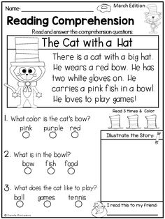 April Reading Comprehension Passages for Kindergarten and