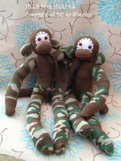Help for Heroes sock monkey www. Help For Heroes, Sock Monkeys, Teddy Bear, Toys, Creative, Animals, Manualidades, Animales, Animaux