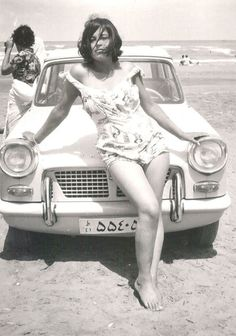 Iranian woman in the era before the Islamic revolution by Ayatollah Khomeini, 1960.