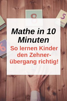 This way your child will learn how to change tens in 10 minutes – without stress! Activities For Adults, Home Activities, Educational Activities, Primary School, Elementary Schools, Stress, School Motivation, Arithmetic, Home Schooling