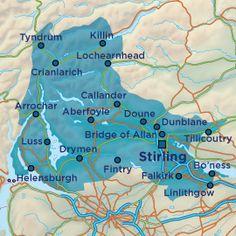 Map of Loch Lomond, Stirling & the Trossachs
