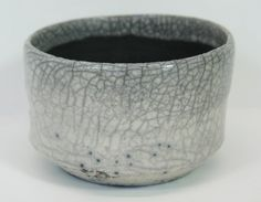 Art Pottery Vase Studio Black and White Crackle by MicheleACaron, $32.00