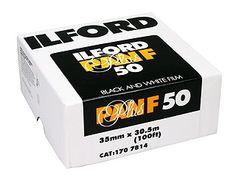 Ilford Pan F+ 50 ISO 35mm x 100 ft. Bulk film