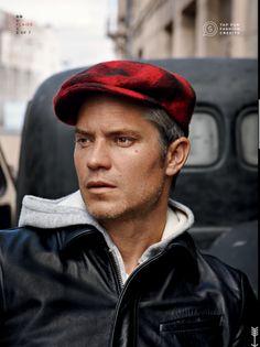 0ff2fab21f0 Timothy Olyphant GQ shoot in red plaid flat cap