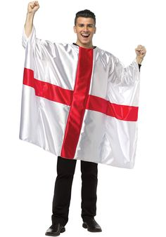Flag Tunic England - Funny Costumes at Escapade Unique Halloween Costumes, Costumes For Sale, Funny Costumes, Cool Costumes, Adult Costumes, Ugly Sweater, Sweater Shirt, England Funny, Six Nations Rugby