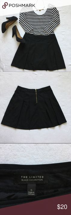 The Limited Black Collection Pleated Skirt 6 Up for sale - one perfect black pleated skirt from The Limited. A great wardrobe staple.   Condition: pre-owned, but in excellent condition. Free of holes, tears, & stains.   Size: 6 The Limited Skirts A-Line or Full