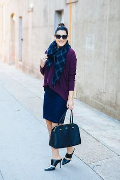 The Perfect Sweater (maybe with a white lace skirt and red slouchy sweater?