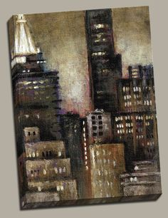 Night Beat II Painting Print on Wrapped Canvas