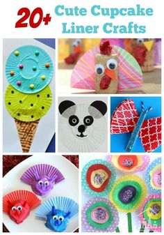 Cutest Cupcake Liner Crafts. Turn cupcake cases into ice-creams, flowers, animals and more.