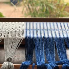 The meditative process of threading the heddle with gentle variations of colour and texture make me happy. Threading, Make Me Happy, Hand Weaving, Meditation, Colour, Texture, Create, How To Make, Instagram