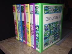 My Lilly Pulitzer binder covers