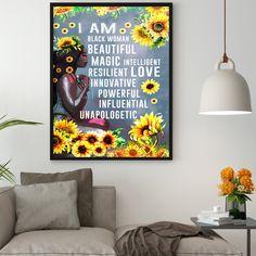 Office Canvas Art, Office Wall Art, All Poster, Poster Prints, Queen Poster, Girl Posters, Afro Girl, Inspirational Wall Art, Black Queen