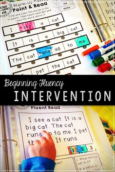 Beginning Fluency Reading Intervention Binder-Great resource for building confidence and fluency in new or struggling readers! Over 120 pages of everything you need to boost fluency including sight word practice, sentence fluency, and comprehension passages with warm-ups! ~Katelyn's Learning Studio