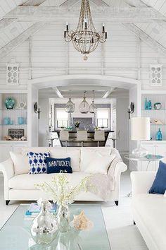 25 Chic Beach House Interior Design Ideas Spotted on Pinterest - HarpersBAZAAR.com~~~~I love this~~~