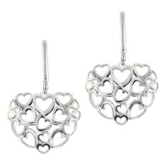 #Amore Collection #SterlingSilver #Heart #Earrings
