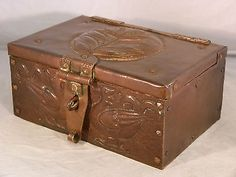 A Wonderful Arts and Crafts Copper Casket by John Pearson. Newlyn 1900.