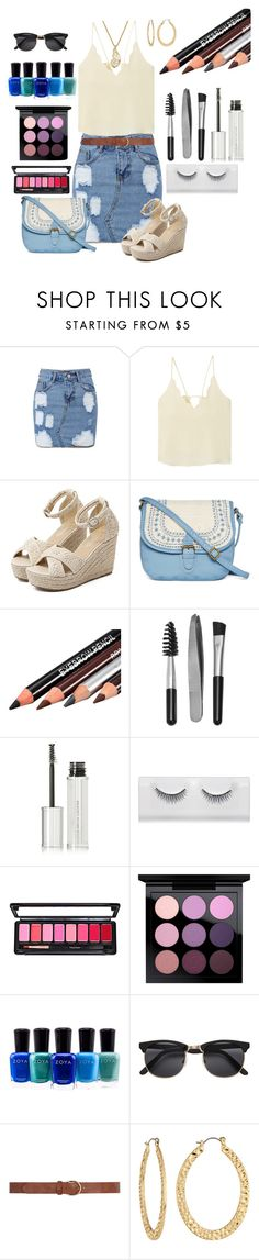 """""""Looking good on a budget!"""" by stelladallas6369 ❤ liked on Polyvore featuring MANGO, WithChic, T-shirt & Jeans, Sephora Collection, Givenchy, MAC Cosmetics, Zoya, Dorothy Perkins, Fragments and Lucky Brand"""