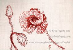 ART ACEO / ATC Australia Hand drawn Drawing by KylieFogartyFineArt, Sold