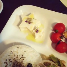 Japanese food Tofu × Edible flower