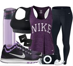 Nike Workout Outfit! Purple my fave #workoutoutfits
