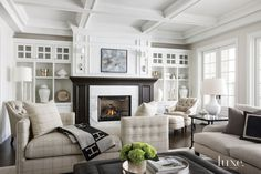 Traditional White Living Room   LuxeSource   Luxe Magazine - The Luxury Home Redefined