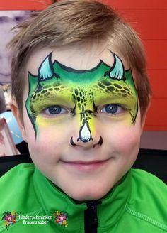 Dinosaurier/Dinosaur by Kinderschminken Traumzauber #Kinderschminken, #facepainting, #dino, #kinderschminkendinosaurier
