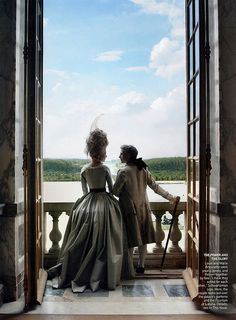 Vogue shoot by Annie Leibovitz in Versailles