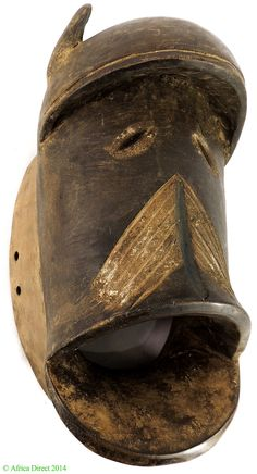 Dan We (Wee) Mask Large Open Mouth Liberia African - Dan, Bassa, Kran, Wee - African Masks