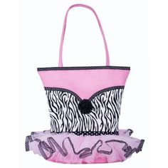 Girls Frilly Zebra Tutu Dress Tote Purse Bag - http://handbagscouture.net/brands/private-label/girls-frilly-zebra-tutu-dress-tote-purse-bag/