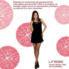 Gran opción para tu graduación. #Lineas #outfit #moda #tendencias #2014 #ropa #prendas #estilo #primavera #outfit #vestido #graduacion