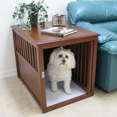 Crown Pet Large Mahogany Furniture Pet Crate