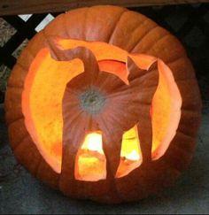 Pumpkin carving Cat's butt