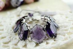 CAST Glass Crystal Purple Bracelet