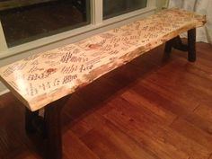 Bench in place of a guest book for weddings. Something you can actually enjoy and remember your wedding by! #wedding #unique #guestbook