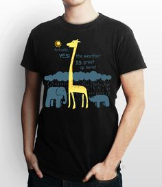 The Weather Is Great Up Here Black Custom T Shirt, Tee