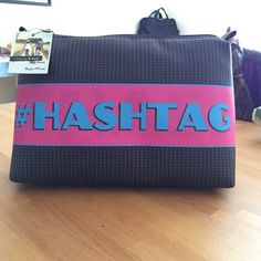 #Hashtag Large cosmetic/accessories bag Stella and Max by Mundi.  Man made water resistant materials.  Perfect as a clutch for large tote or hair brushes when traveling. Mundi Bags Cosmetic Bags & Cases