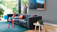 get the look: living room with colour accents