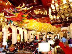 The Water Dragon flies inside the Manila Hotel, Philippines