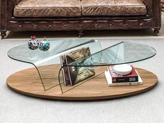 Contemporary Arona Coffee Table in Walnut