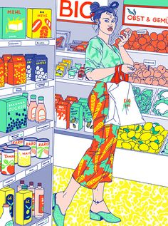 Illustration for latest issue examining what the world would look like if women were to decide everything! Apparently we fruit and veg Magazine Illustration, Digital Illustration, Artwork For Home, Its Nice That, Puzzle Art, Hippie Art, Vintage Comics, Grafik Design, Caricatures