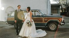 """248 Likes, 2 Comments - Ryan + Brittany Worthen (@reelspecial) on Instagram: """"Just Jeepin' through life as husband + wife. // The groom's vintage Jeep Grand Wagoneer was the…"""""""