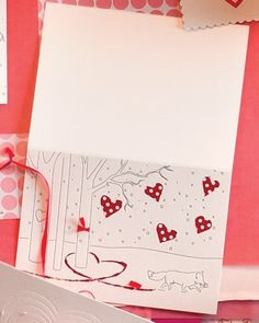 Fill our wintry clip art design with color, embroidery, and glitter for a romantic card.  Print the Paw Prints in the Snow Clip Art