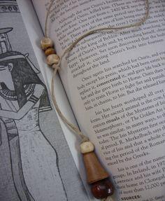Rustic Reader Hemp Bookmarker by The Gypsy Bead, $8.00, via Etsy.