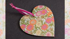 How to Decoupage a Wooden Heart using Chiyogami Paper Heart Crafts, Wooden Hearts, Charity, Folk Art, Decoupage, Projects To Try, Paper Crafts, Make It Yourself, Artist