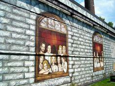Sophie W i l k i n s -Fresque pour la ville de Salaberry -de -Valleyfield '' Montreal Cotton''  2006